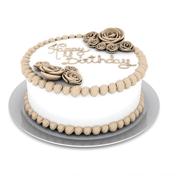 Birthday Cake White Creme 1