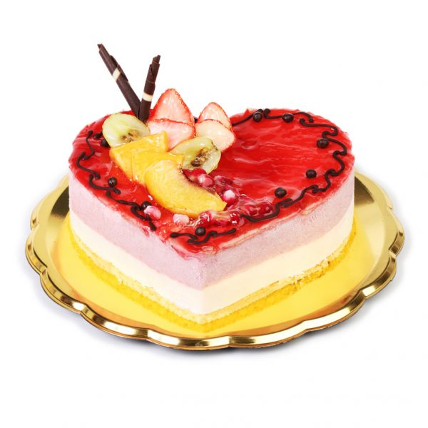 Red Heart Cake 1