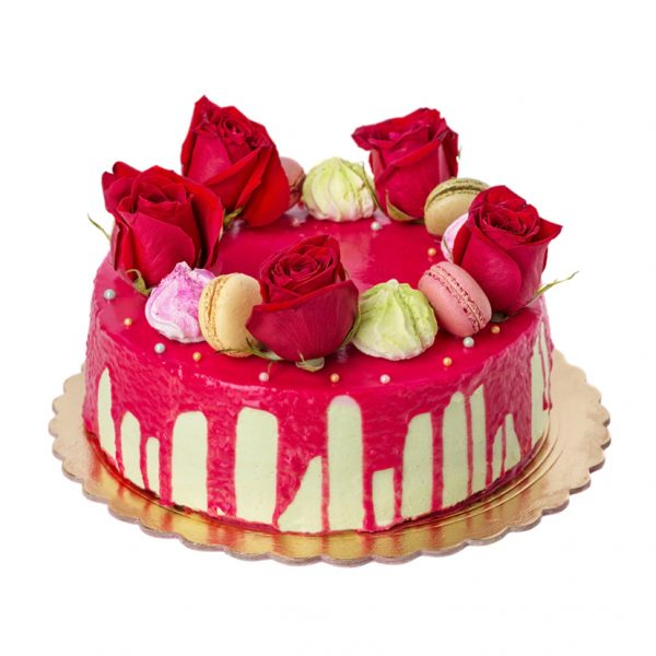 Red Rose Flower Cake 1