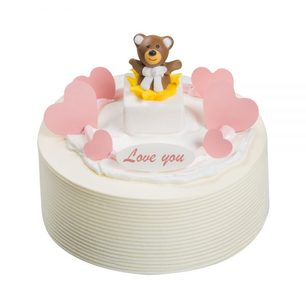 Love you Cake White Creme 1