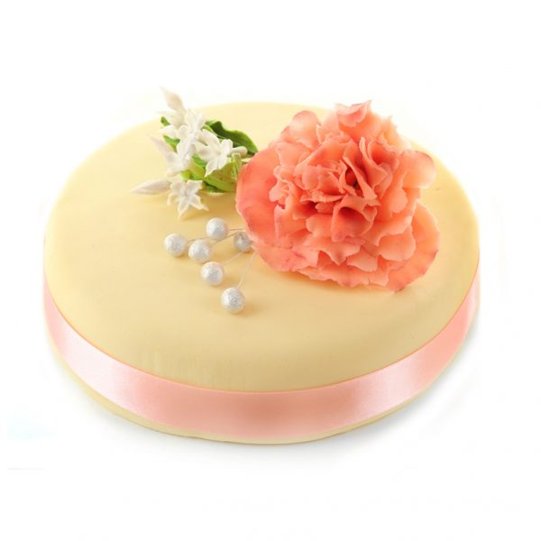 White Cake with Rose 1